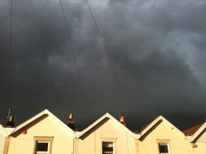 Stormy skies over Bishopston