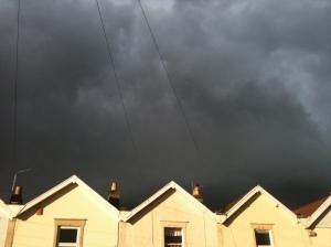 Stormy skies over Bishopston
